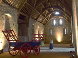 The tithe barn interior.