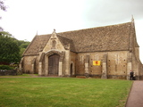 The tithe barn exterior.