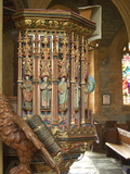 The painted pulpit.